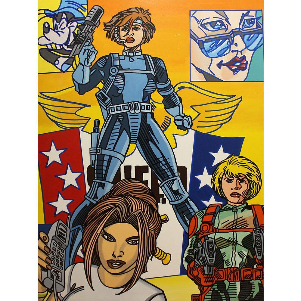 Erro Biogirl Peinture Galerie Perahia