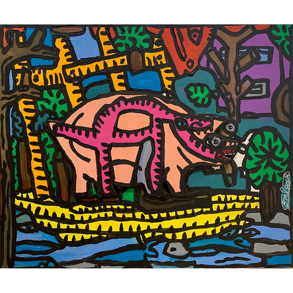 Combas Robert Peinture Galerie Perahia