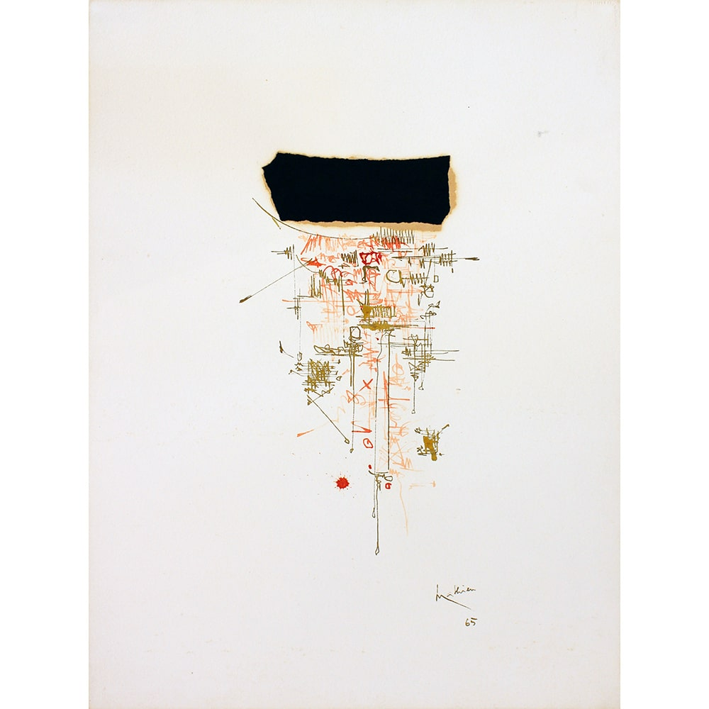 Georges Mathieu Peinture Galerie Perahia
