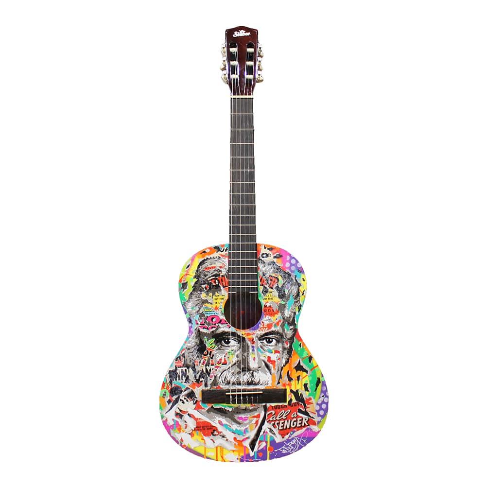 guitare brassens de nom de l'artiste